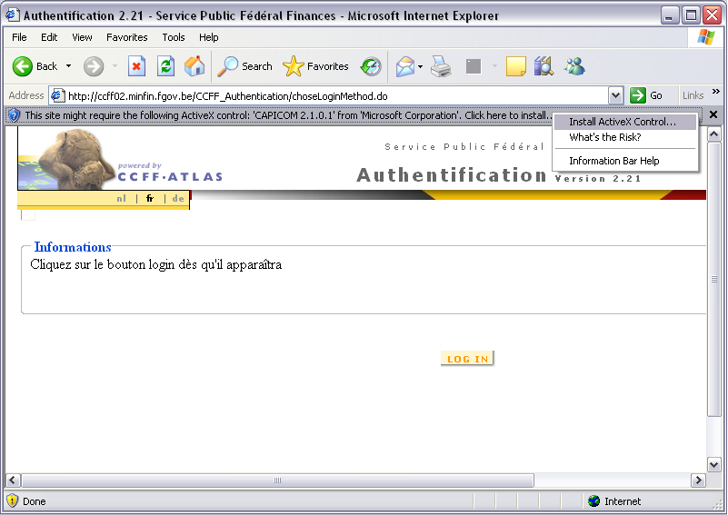 Help about the authentication by certificate
